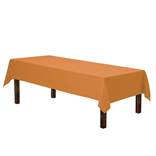 Halloween Colors Clothes (Gee Di Moda Rectangle Tablecloth - 60 x 102 Inch | Orange Rectangular Table Cloth for 6 Foot Table in Washable Polyester | Great for Buffet Table, Parties, Holiday Dinner,)