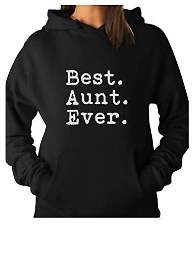 TeeStars - Best Aunt Ever - Gift for Auntie from Nephew or Niece Women Hoodie Large Black
