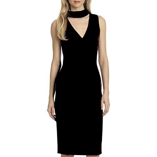 Badgley Mischka Cocktail Dress - Belle Badgley Mischka Womens Simone Sleeveless Mini Cocktail Dress Black 6