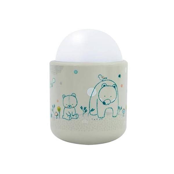 Pabobo - Dans les bois - Veilleuse Portable LED à Lumière Douce pour Bébé et Enfant - Rechargeable - 70 heures d'autonomie sans pile ni fil - Beige 1