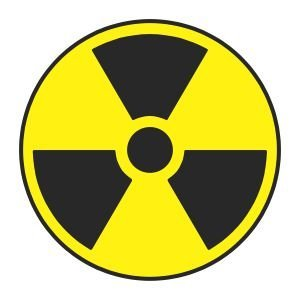 (3) Nuclear Symbol Funny Hard Hat / Helmet Stickers