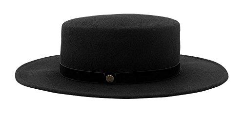 niño material seleccionado última moda ESPRIT 076EA1P003, Sombrero pork pie Mujer, Negro (BLACK ...