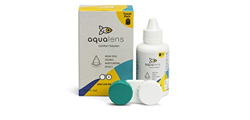 Aqualens Comfort Contact Lens Solution 60ML – Pack of 1 (Lens Cases Free)