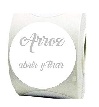 Etiquetas blancas para bolsas de arroz para boda: Amazon.es ...