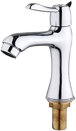 Gulakey バスルームのシンクは、スロット付き浴室の洗面台のシンクホットコールドタップミキサー流域の真鍮シンクミキサータップコッパースプール垂直流域の蛇口浴室洗面盆地シングル冷たい水の蛇口をタップ