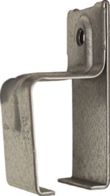 National Mfg N104-349 Galvanized Single Box Rail Barn Door Brackets With Lags - Quantity 6 Box Rail Bracket