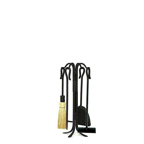 (Minuteman International 4 Piece Shepherd's Hook III Wrought Iron Fireplace Tool Set Size: 26.5