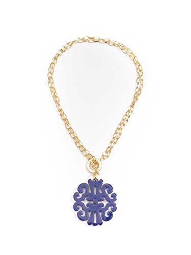 (ZENZII Statement Scroll Pendant Necklace)