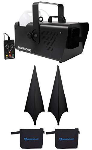 Chauvet DJ SM 250 Portable DMX Snow Machine+Wired timer Remote SM250+(2) Scrims