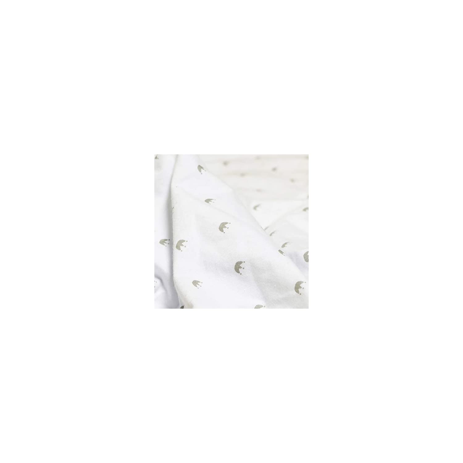 Mika Micky Fitted Sheet for Bedside Crib (Crown)