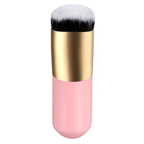 Durable Cosmetic Face Powder Blush Brush Face Blender Foundation Brushes Pink