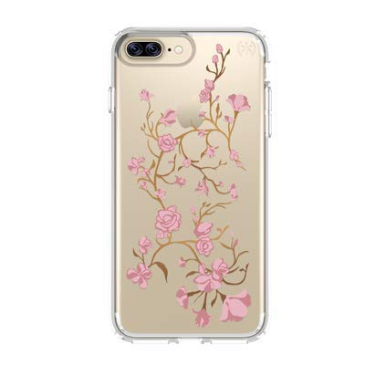 Speck Products Presidio Clear + Print Cell Phone Case for iPhone 7 Plus - Goldenblossom Pink/Clear (Difference Between Iphone 7 And Iphone 7s)