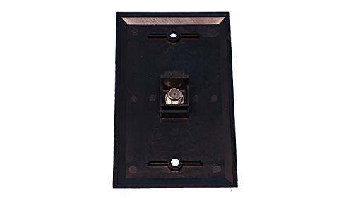 Buy coaxial wall plate black BEST VALUE, Top Picks Updated + BONUS