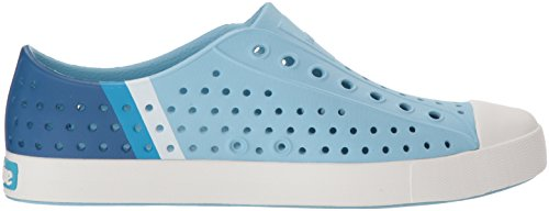 Naty Mens Jefferson Fashion Sneaker Cielo Blu / Shell Bianco / Blocco Sfumatura