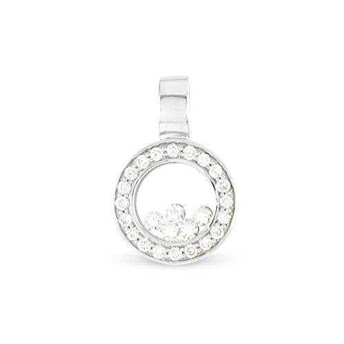Tous mes bijoux - Pendentif seul (sans chaîne) - Or blanc 18 cts - Diamant 0.33 cts - PDTHR01004
