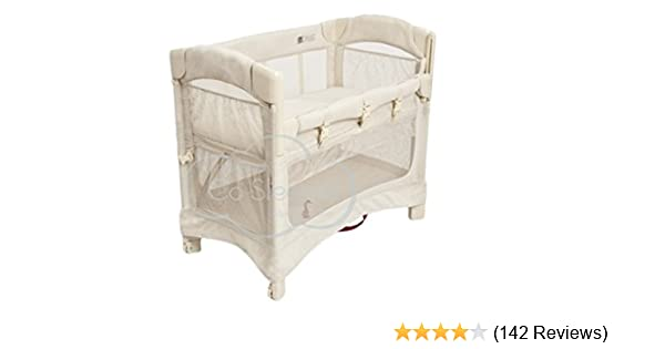 Arm/'s Reach Mini Ezee 3 in 1 Baby Co-Sleeper Bedside Bassinet Cocoa Natural NEW