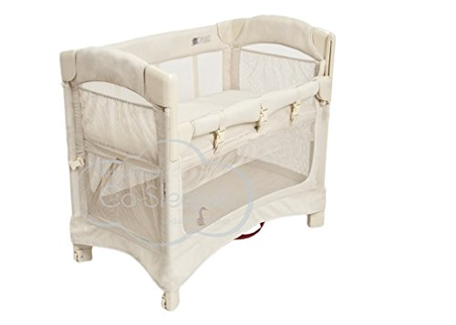 Original Co Sleeper - Arm's Reach Concepts Mini Ezee 2-in-1 Bedside Bassinet - Natural