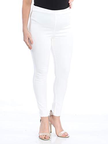 - Free People Womens Stretch Fringe Denim Skinny Jeans White 31