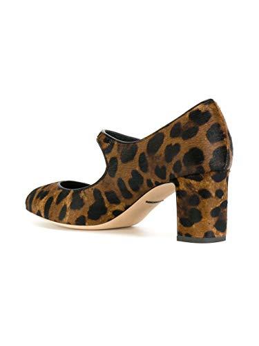 Dolce Cd0882ai533haalm Chaussures noir Talons Femme Marron À E Gabbana Cuir aqnOrSwa