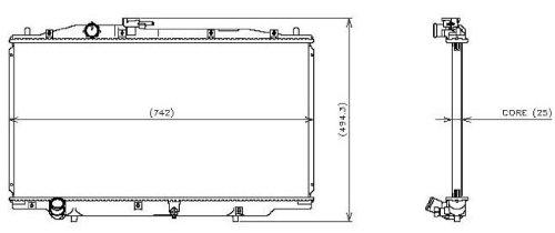 03 honda accord radiator - 3