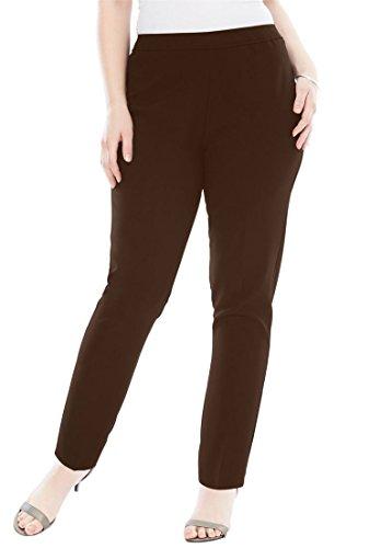 Roamans Women's Plus Size Bend Over Classic Pant by Roamans (Image #3)