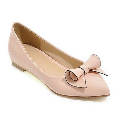 Cómodo y elegante soporte de zapatos de las mujeres pisos primavera verano otoño otros sintética oficina y carrera vestido casual soporte de tacón con lazo negro y rosa rojo blanco rosa