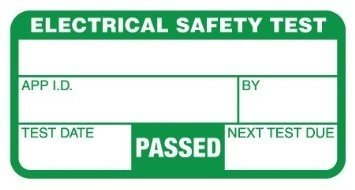 200 25MM X 50MM ELECTRICAL SAFETY TEST LABELS PASSED FAILED RED// GREEN