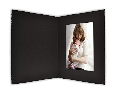 Golden State Art, Cardboard Photo Folder for a 4x6 Photo (Pack of 50) PF053 Black Color - 6 X Photo 4 Folders