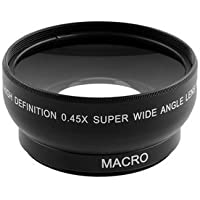 Wide Angle Macro Lens - 52mm Macro Lens - 0.45 x 52mm Super Fisheye Wide Angle Fixed Focus Lens For Pentax Sony Minolta With 18-55m (Fixed Focus Lens)