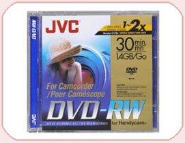 JVC DVD-RW, 1.4Gb, 8cm, 30min Pack 5, Camcorder Mini dvd, dvdrw, 1.4 gb, 30 min