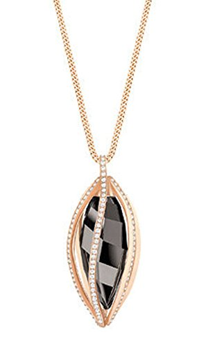Swarovski Medium Hailey Pendant, Gray, Rose Gold Plating