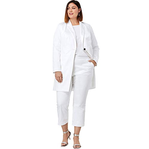 (Jessica London Women's Plus Size Crop Pantsuit - White, 24)