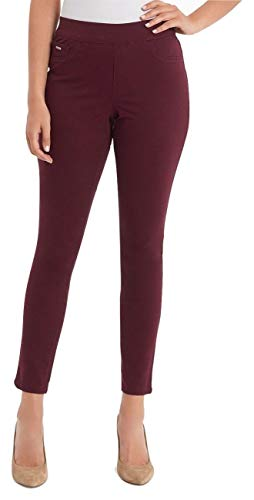 (Nine West Heidi Pull-On Skinny Jeans (Wine, 4))