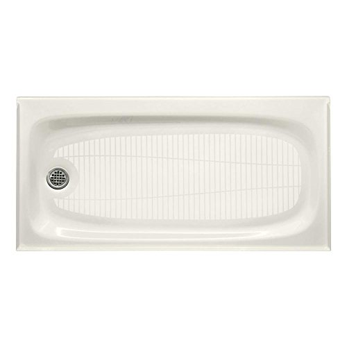(KOHLER K-9053-96 Salient Receptor with Left-Hand Drain, 60-Inch by 30-Inch, Biscuit)