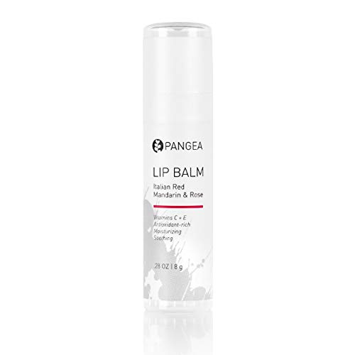 Pangea Organics Lip Balm, Italian Red Mandarin With Rose, 0.25-Ounce Tubes ()