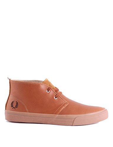 Fred Perry Vernon Mid Mens Leather Desert Boots Tan - 44 EU