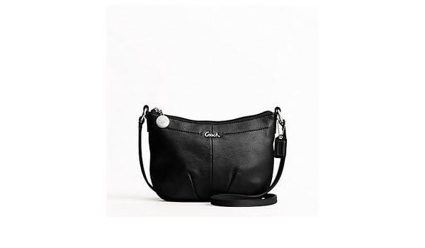 74fa97913b32 NWT Coach Black Leather Pleated Swingback Crossbody Handbag Purse F44735 -   148  Amazon.ca  Office Products