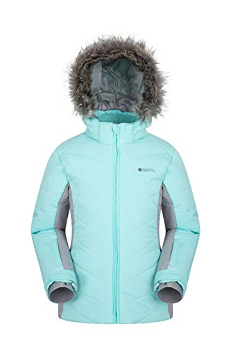 Mountain Warehouse SF Extreme Kids Ski Jacket - Faux Fur Winter Coat Mint 13 Years