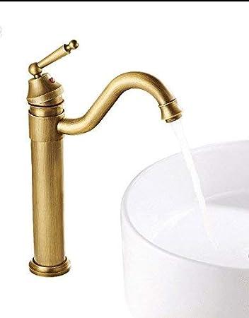 Grifos de agua fría y caliente, baño, lavabo de un orificio ...