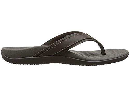 Vionic Men's Tide Toe-Post Sandal - Flip Flop with Concealed Orthotic Arch Support Brown 10 M US