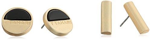 t-tahari-gold-and-black-onyx-stud-earrings