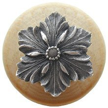 Natural Wood Opulent Flower Knob (Classic 1.5