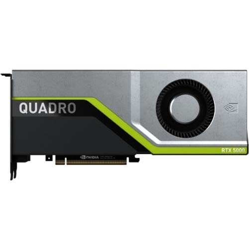 PNY QUADRO RTX 5000 Graphic Card - 16 GB GDDR6 - Dual Slot Space Required - 4096 bit Bus Width - Fan Cooler - OpenACC, OpenGL 4.5, DirectX 12, OpenCL, DirectCompute 5.0, Vulkan 1.0-4 x DisplayPort -