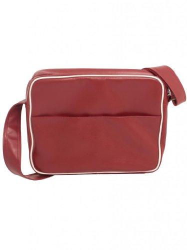 Burgundy With University Pattern College Shoulder ETO Design Jeans Bag Gym Messenger Student Anchor q77f1w