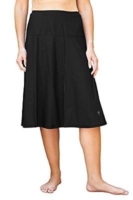HydroChic Women's Modest Extra Long Swim Skirt, Skirted Swimwear With Leggings