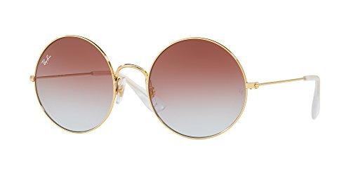 Ray-Ban Women's Ja-Jo Round Sunglasses, Gold, 50 - Ray Ban Ja Jo