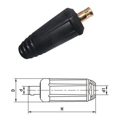 SATKIT Conector Aereo Macho 35-50 para Cable Soldar Manguera Soldadura 300A