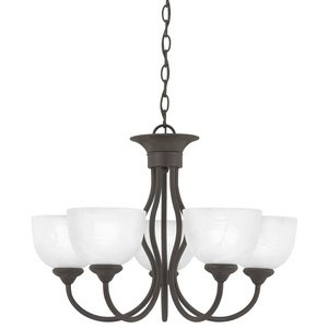 Thomas Lighting Sl8015-63 Tahoe Five-Light Chandelier, Bronze (Bronze Tahoe Transitional Wall)