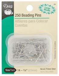 Bulk Buy: Dritz Beading Pins Size 14 7/8' 250/Pkg 89 (6-Pack) Prym Consumer USA Inc.