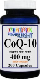 CoQ-10 Coenzyme 400mg 200 Capsules